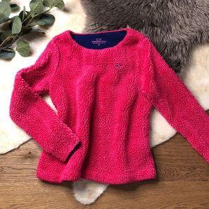 Vineyard vines pink teddy sweater size 7-8 s